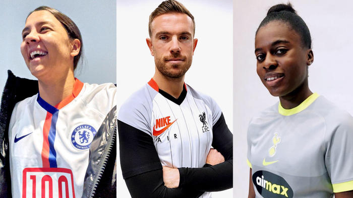 Jersey Chelsea, Liverpool, Tottenham Hotspur.