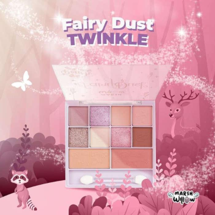 Palette Twinkle Marshwillow yang menyediakan delapan warna eyeshadow dan dua warna blush on. (Instagram/marshwillow.official)