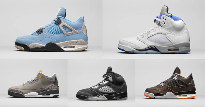 Retro Air Jordan 3s, Air Jordan 4, dan Air Jordan 5s