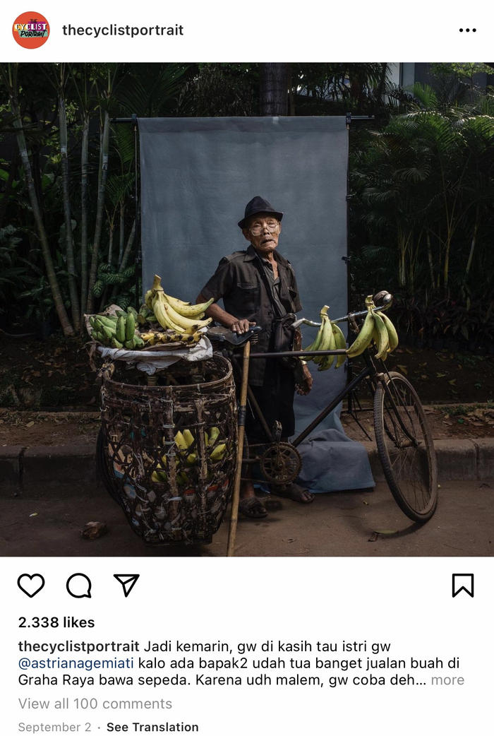 The Cyclist's Portrait. Panji Indra.